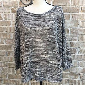 JohnPaulRichard Marled Open Weave Sweater XL